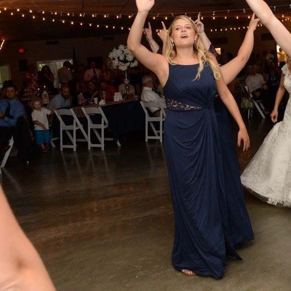 Davids Bridal Dresses Navy Blue Marine Bridesmaid Dress Poshmark